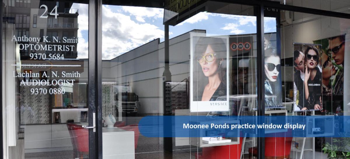 Smith Eye & Ear Solutions Moonee Ponds practice window
