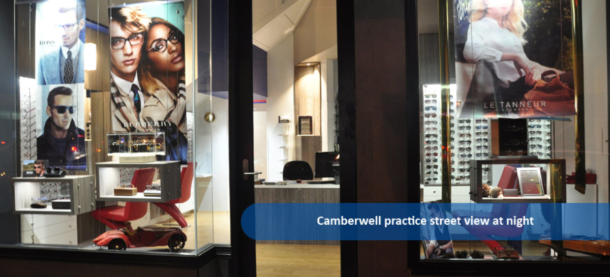 Spectacle displays at Smith Eye & Ear Solutions Camberwell Practice